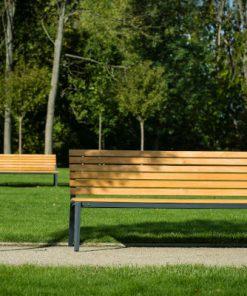 ALUMA ławka parkowa - aluminium