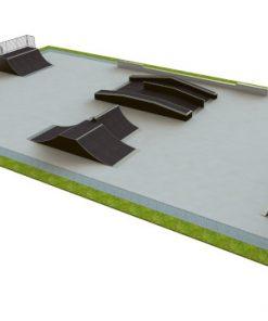Skatepark - zestaw B155 - pow. 700 m2