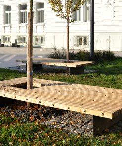 ROSTY - drewniana ławka parkowa