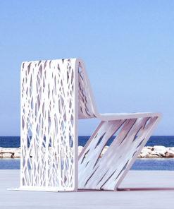 Krzesło miejskie Crossed