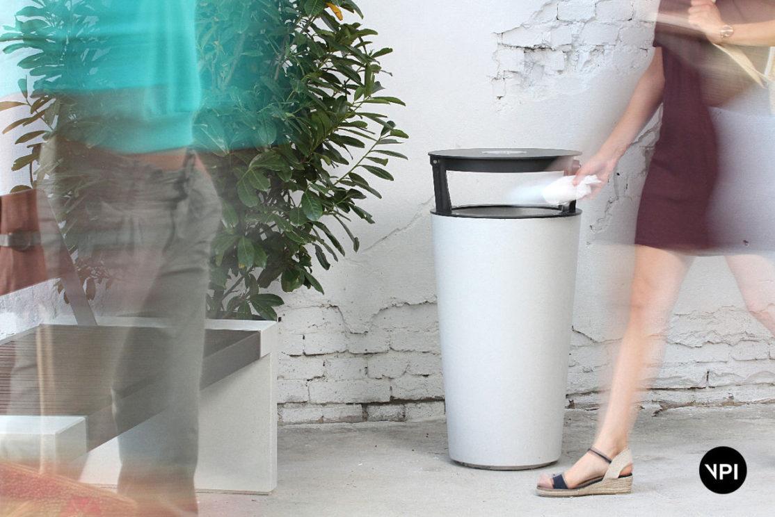 betonowy kosz na śmieci BINN