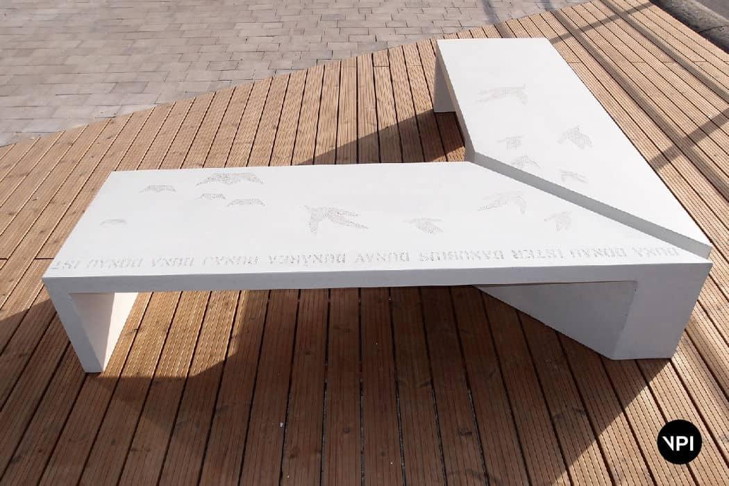 ławka betonowa Zigza 11