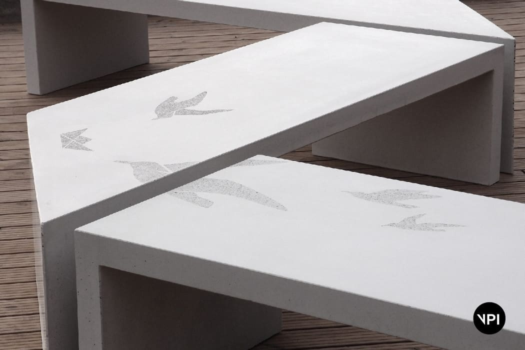 ławka betonowa Zigza9