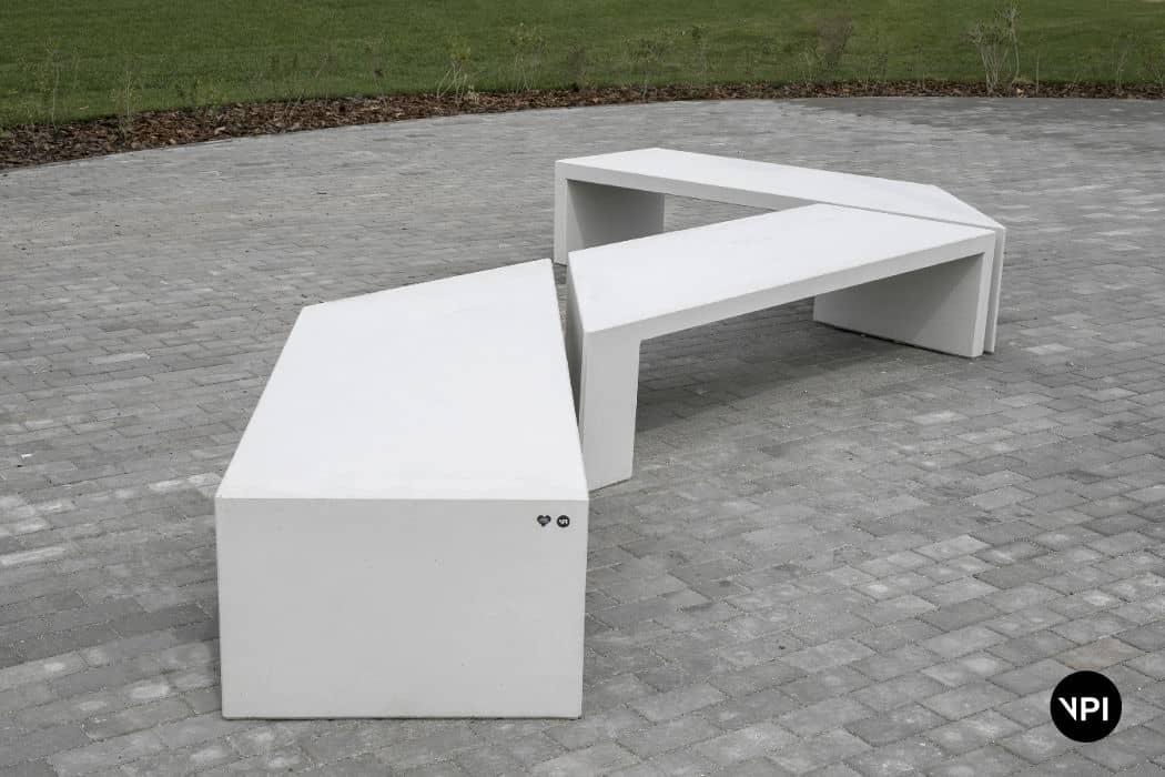 ławka betonowa Zigza 6