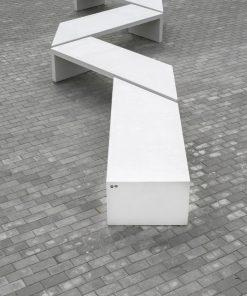 ławka betonowa Zigza 5