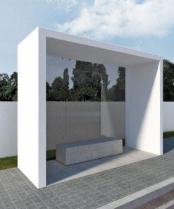 wiata przystankowa, betonowa Box