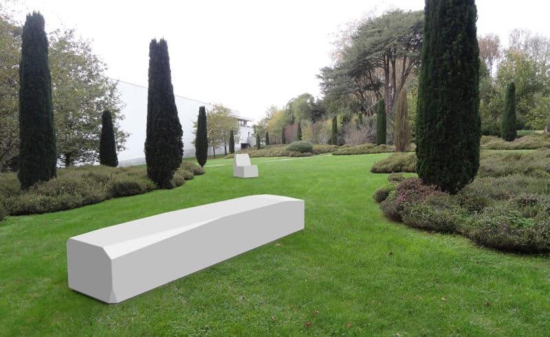 ławka uliczna z betonu architektonicznego
