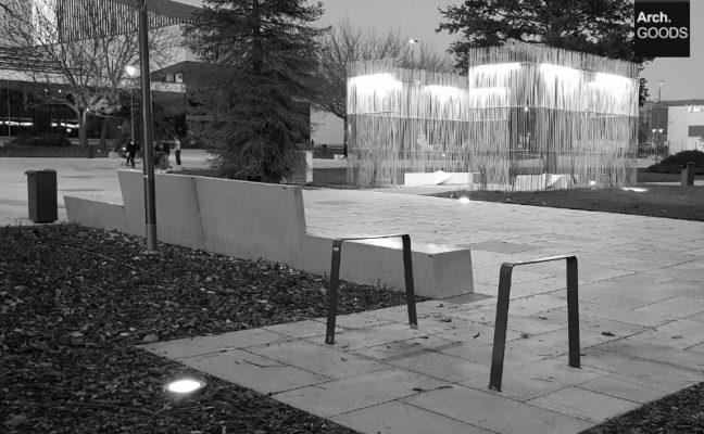 opole - ławki na placu