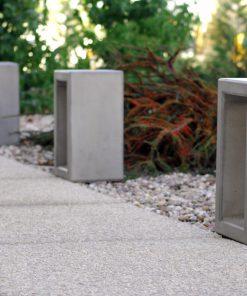 słupek betonowy Outline z iluminacją