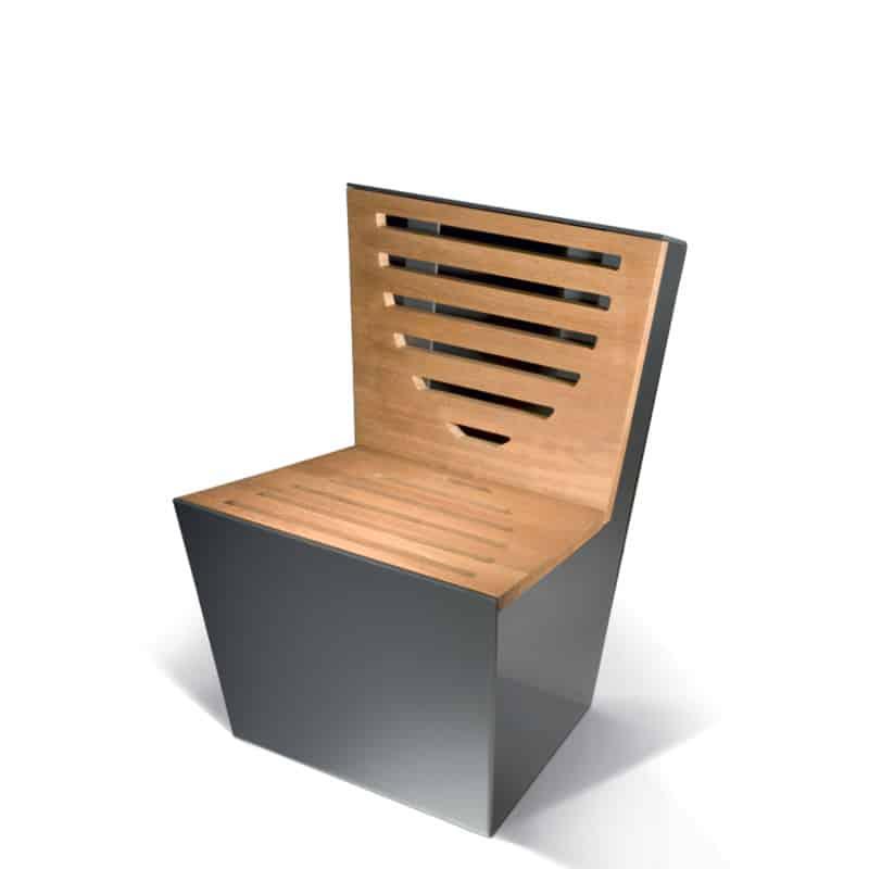 krzesło miejskie single-wood