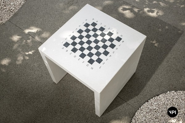 parkowy stolik szachowy
